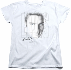 Elvis womens t-shirt Blue Eyes white