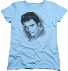 Elvis womens t-shirt Dreamy light blue
