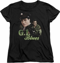 Elvis womens t-shirt G I Blues black