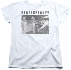 Elvis womens t-shirt Heartbreaker white