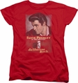 Elvis womens t-shirt Jailhouse Rock Poster red