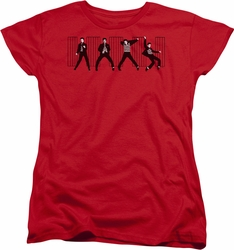 Elvis womens t-shirt Jailhouse Rock red