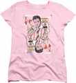 Elvis womens t-shirt King Of Hearts pink