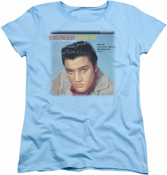 Elvis womens t-shirt Loving You Soundtrack light blue