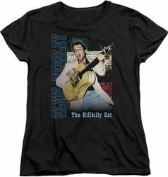 Elvis womens t-shirt Memphis 2 black
