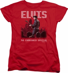 Elvis womens t-shirt Return Of The King red