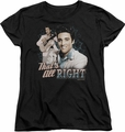 Elvis womens t-shirt Thats All Right black