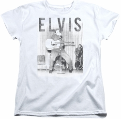 Elvis womens t-shirt With The Band white
