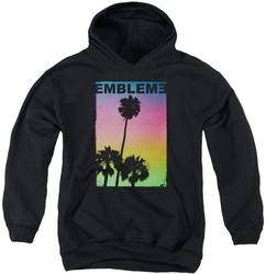 Emblem3 youth teen hoodie Palms black