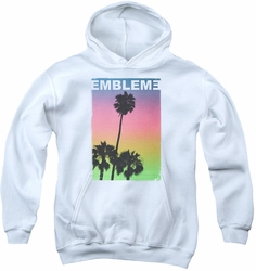 Emblem3 youth teen hoodie Palms white