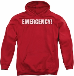 Emergency pull-over hoodie Logo adult red