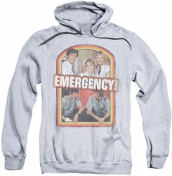 Emergency pull-over hoodie Retro Cast adult athletic heather