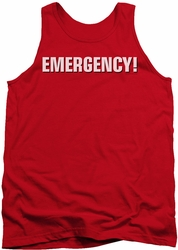 Emergency tank top Logo mens red