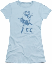 ET juniors t-shirt Bike light blue