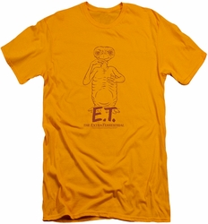 ET slim-fit t-shirt Alien Swag mens gold