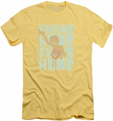 ET slim-fit t-shirt Dropped Calls mens banana