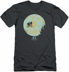 ET slim-fit t-shirt In The Moon mens charcoal