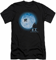 ET slim-fit t-shirt Moon Scene mens black