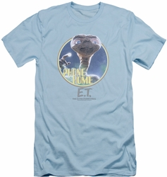 ET slim-fit t-shirt Phone Home mens light blue