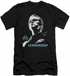 Eureka slim-fit t-shirt Leadership Poster mens black