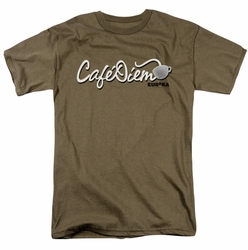 Eureka t-shirt Cafe Diem mens safari green