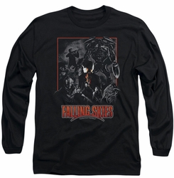 Falling Skies long-sleeved shirt Collage black