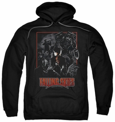 Falling Skies pull-over hoodie Collage adult black
