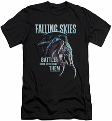 Falling Skies slim-fit t-shirt Battle Or Become mens black
