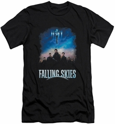 Falling Skies slim-fit t-shirt Main Players mens black