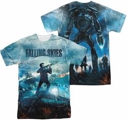Falling Skies sublimated t-shirt Battle short sleeve