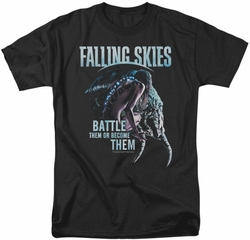 Falling Skies t-shirt Battle Or Become mens black
