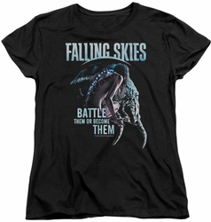 Falling Skies womens t-shirt Battle Or Become black