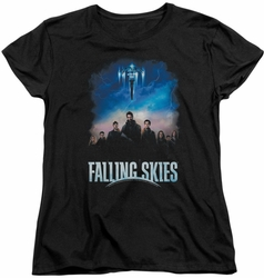 Falling Skies womens t-shirt Main Players black