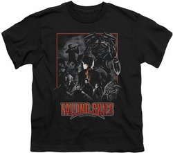Falling Skies youth teen t-shirt Collage black