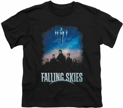 Falling Skies youth teen t-shirt Main Players black