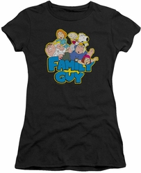 Family Guy juniors t-shirt Family Fight black
