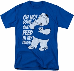 Family Guy t-shirt In My Pants mens royal blue