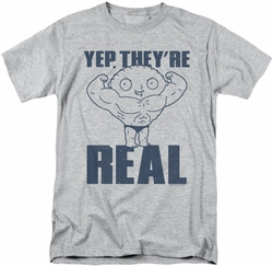 Family Guy t-shirt Real Build mens athletic heather