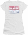 Family Ties juniors t-shirt Alex For President white