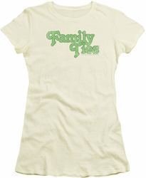 Family Ties juniors t-shirt Logo cream