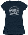 Family Ties juniors t-shirt Young Republicans Club navy