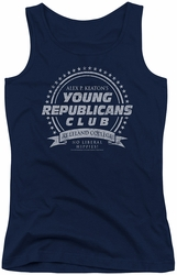 Family Ties juniors tank top Young Republicans Club navy