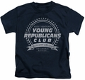 Family Ties kids t-shirt Young Republicans Club navy