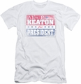 Family Ties slim-fit t-shirt Alex For President mens white