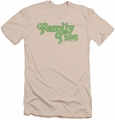 Family Ties slim-fit t-shirt Logo mens cream
