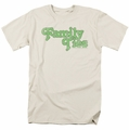 Family Ties t-shirt Logo mens cream