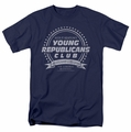 Family Ties t-shirt Young Republicans Club mens navy