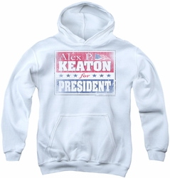 Family Ties youth teen hoodie Alex For President white