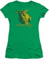 Farscape juniors t-shirt Nobodys Puppet kelly green