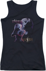 Farscape juniors tank top Chiana black